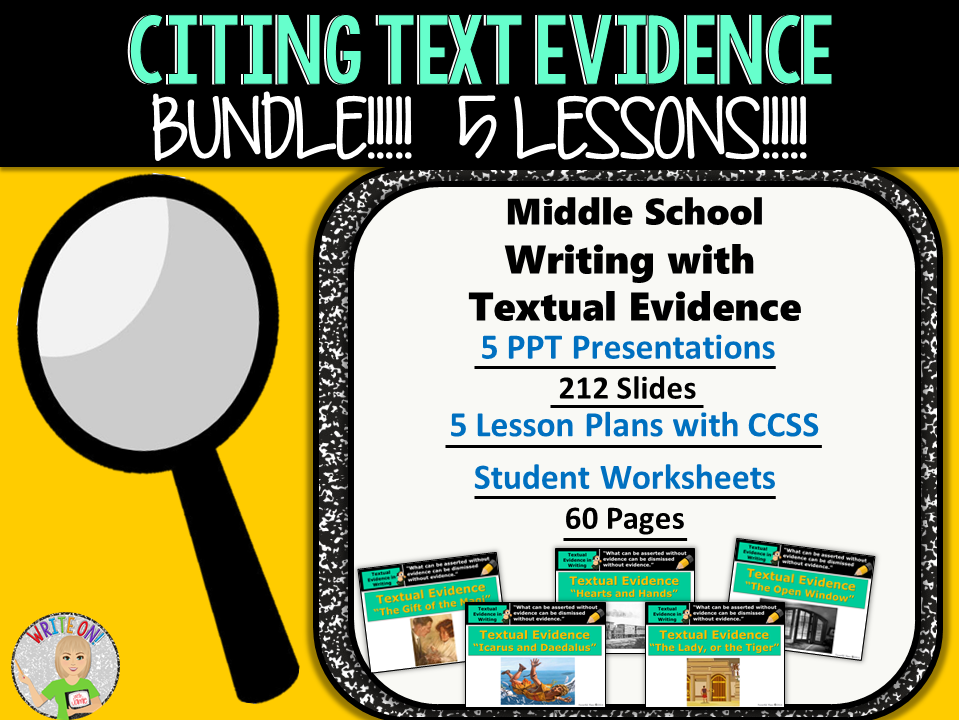 Citing textual evidence worksheets pdf