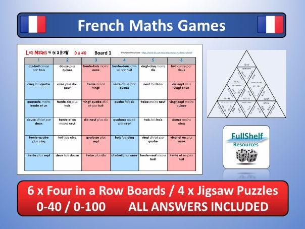 French Numbers / Maths Games