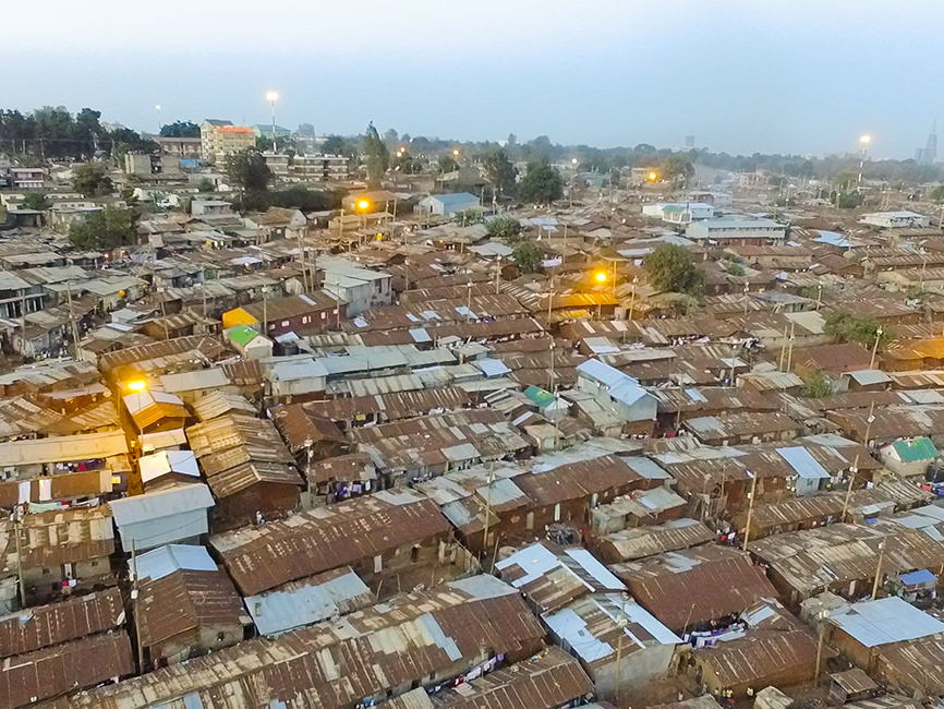 Conditions in Kibera Slum Kenya