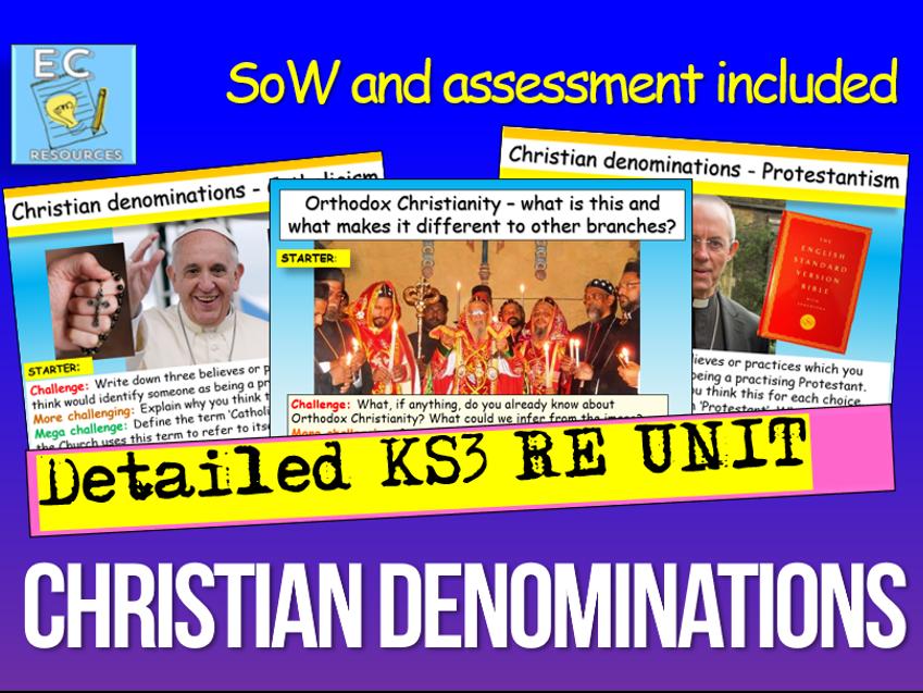 Christian Denominations UNIT