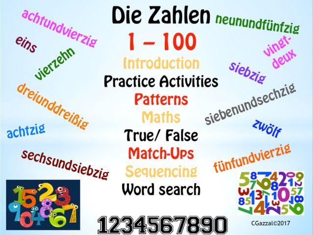 German numbers, Die Zahlen, 1 - 100