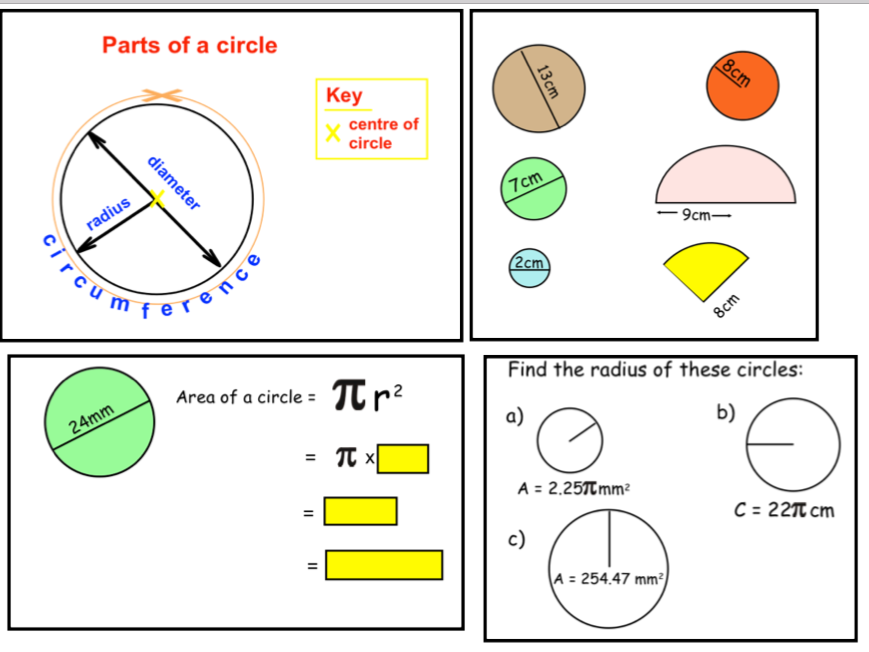 Area and Circumference of Circles (ppt)