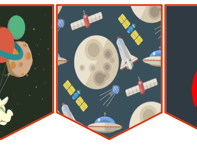 Space themed bunting