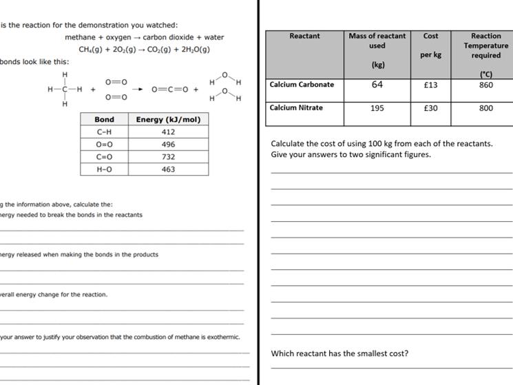 KS3 Reactions Revision