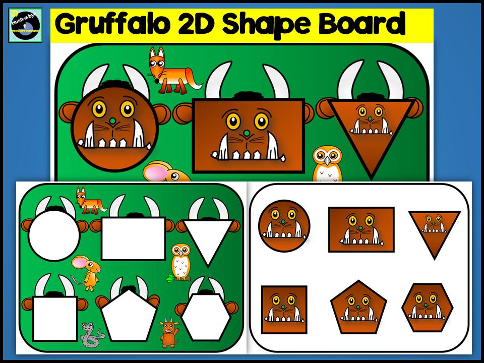 Gruffalo 2D Shape Board
