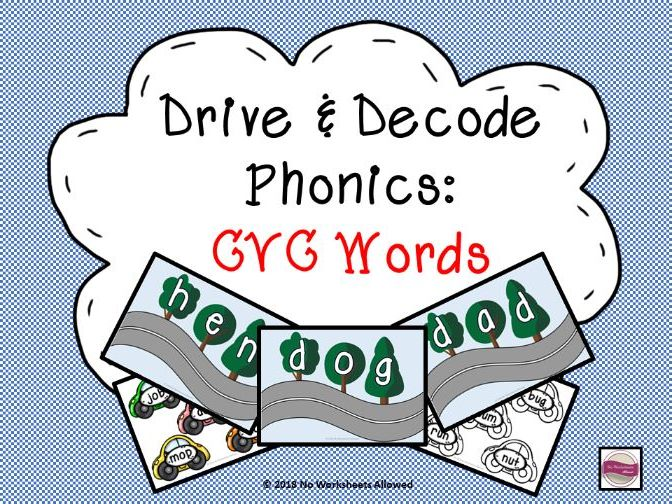 Phonics Blending Game - CVC Words