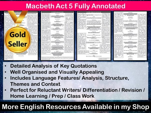 Macbeth Act 5 Fully Annotated