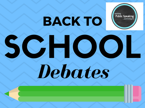 Back to School Debates