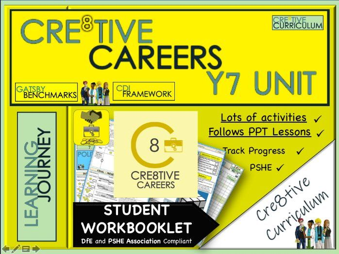 Cre8tive Careers Year 7 Student Workbooklet
