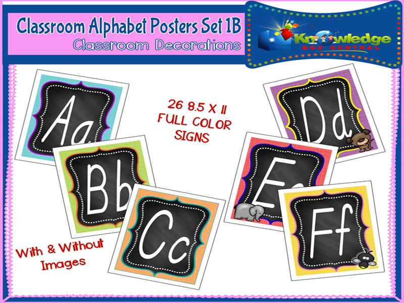Alphabet Posters Set 1B