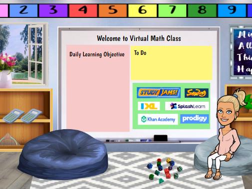 Bitmoji Virtual Classroom - Math