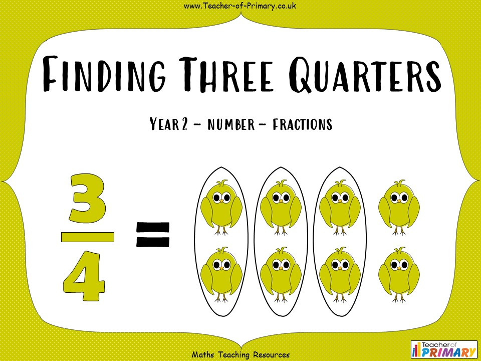 Finding Three Quarters - Year 2