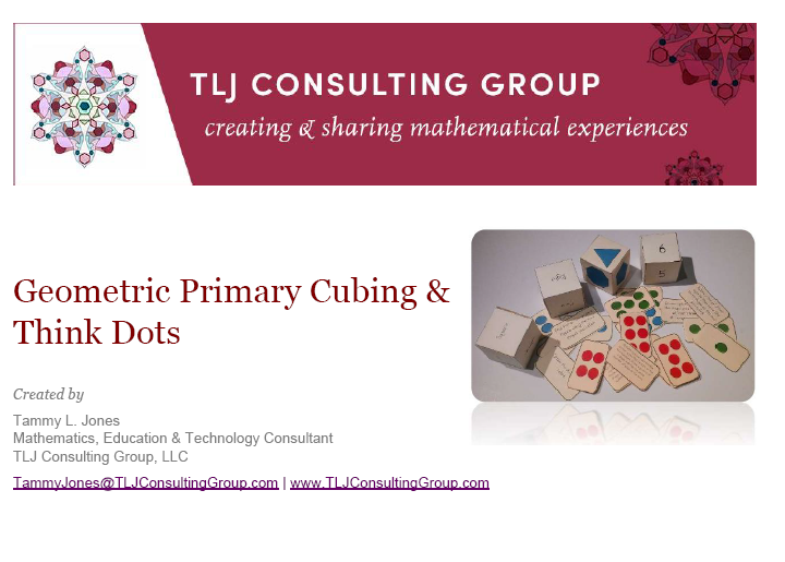 Geometric Primary Cubing And Think Dots By Tljconsulting Teaching