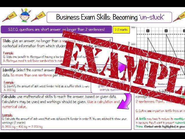 Edexcel Business 9-1 Exam Technique Booklet