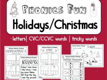 Winter Holiday / Christmas Season Phonics Fun! Letters, Spelling Reading & Write
