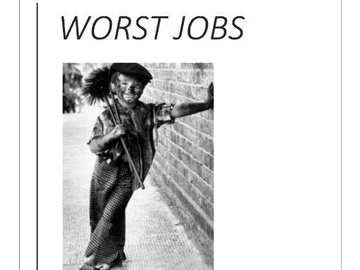 Worst Jobs in History Industrial Worksheets
