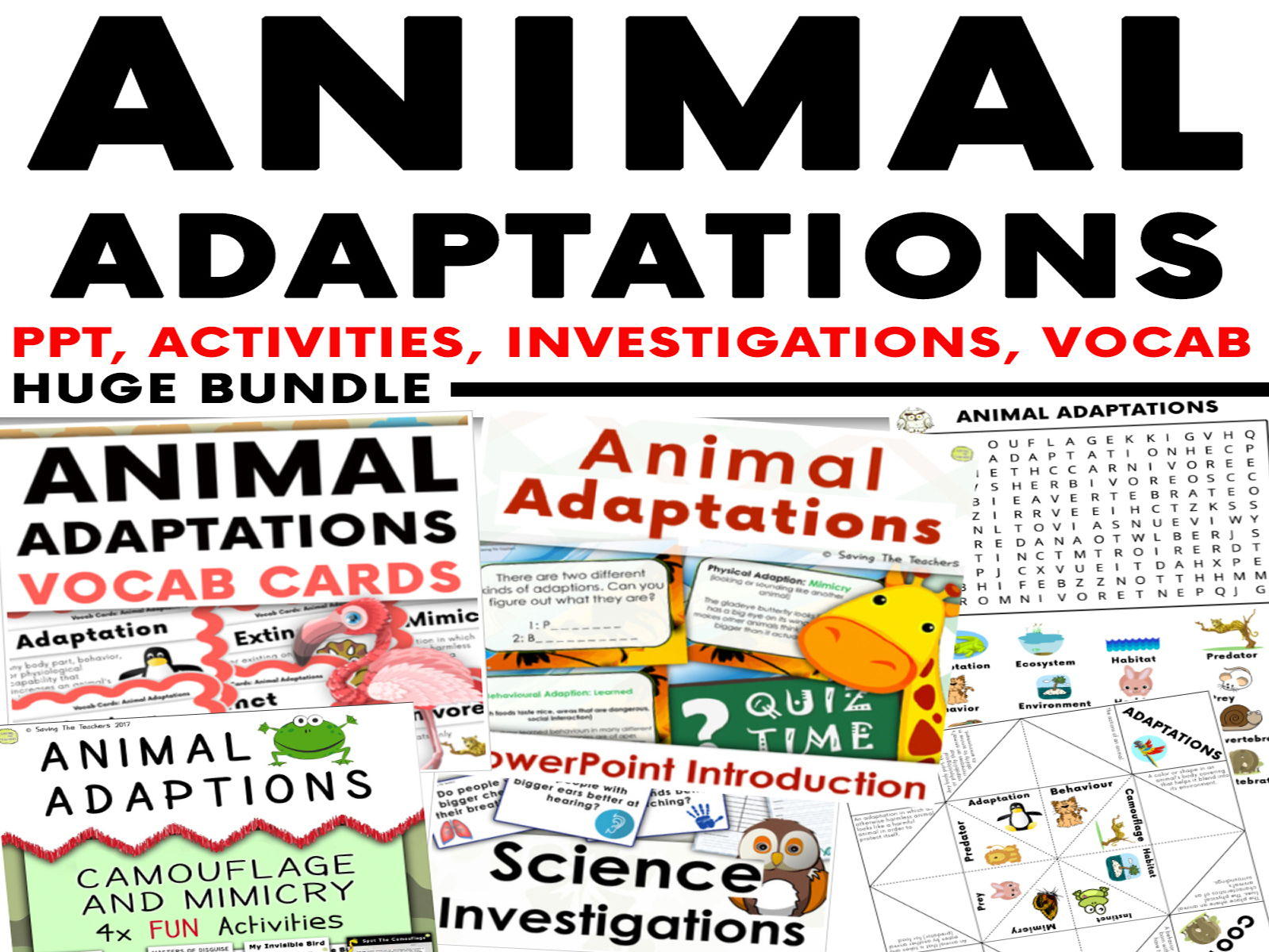 Animal Adaptation Huge Bundle - PowerPoint, Activities, Investigations & Vocab