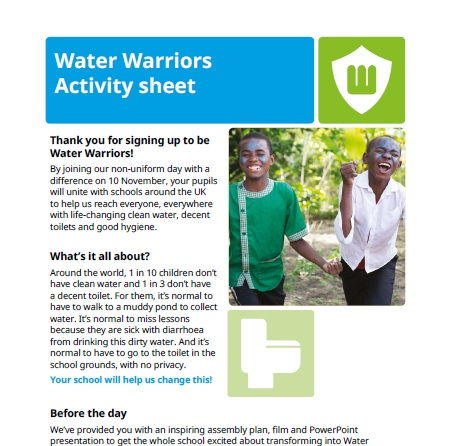 Free Primary School resources from WaterAid