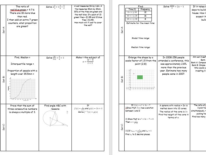 GCSE 1-9 higher revision booklet