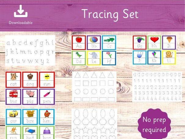 Tracing Set - No Prep - Toddler Tracing