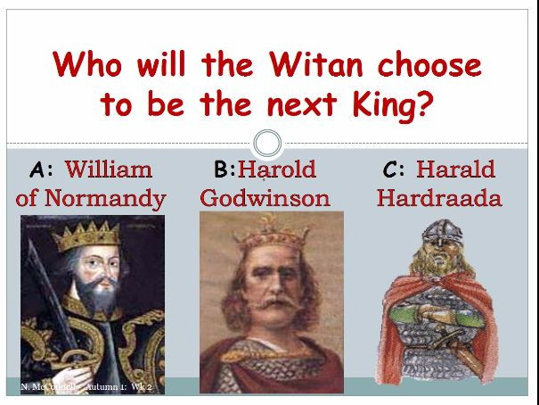 who should be king in 1066 essay 1066 and the norman conquest 1066 was a momentous year for england the death of the elderly english king, edward the confessor, on 5 january set off a chain of events that would lead, on 14 october, to the battle of hastings.