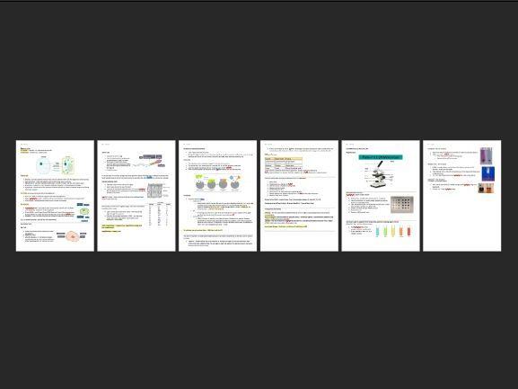 Unit 1 GCSE Edexcel 9-1 Biology Notes