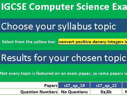 IGCSE Computer Science Exam Question Finder