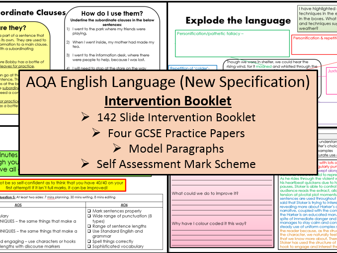 English Language Intervention & Revision Booklet (AQA, 9-1 GCSE)