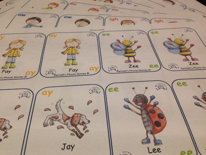 Hannah's Phonics Stories; Phonics Card Game