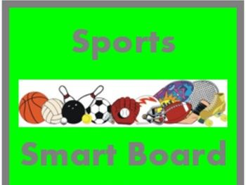 Deportes (Sports in Spanish) Smartboard Activities
