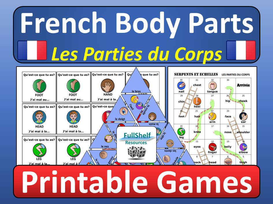 French Body Parts Games