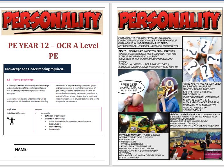 OCR A Level PE - Sports Psychology ILT Bundle