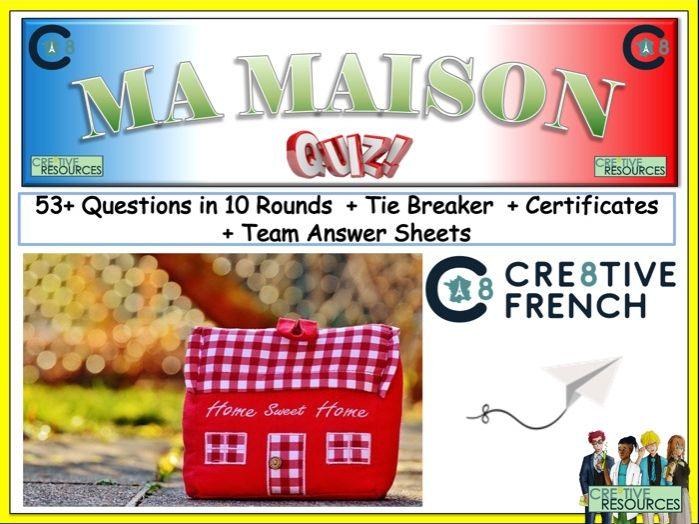 French MFL Revision  Quiz  Ma Masion