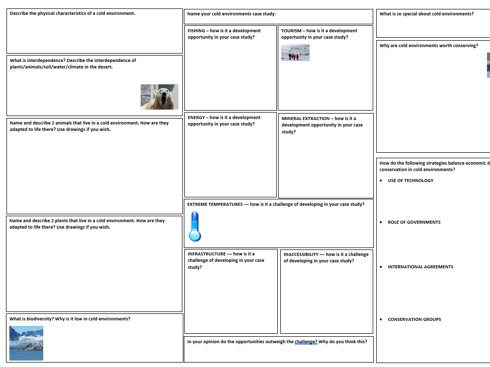 AQA The Living World revision mat pack