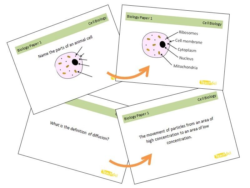 AQA GCSE Science Flashcards (Paper 1s)