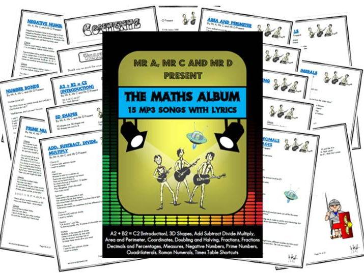 *BUNDLE* The Maths Album by Mr A, Mr C and Mr D Present
