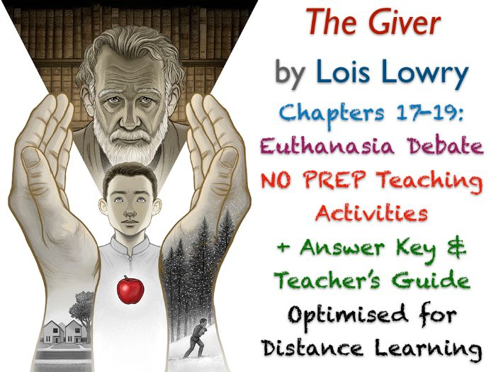 The Giver (Lois Lowry) - Ch. 17-19 - The Euthanasia Debate - ACTIVITIES + ANSWERS