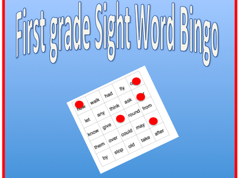 Sight Word Bingo - First grade Dolch sight words