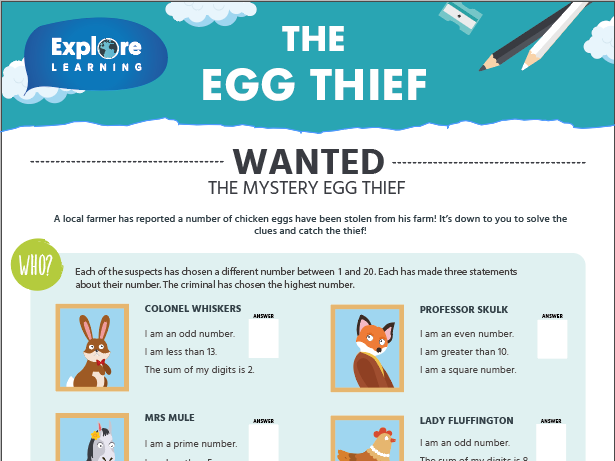 Free_Maths problem solving activity_The egg thief