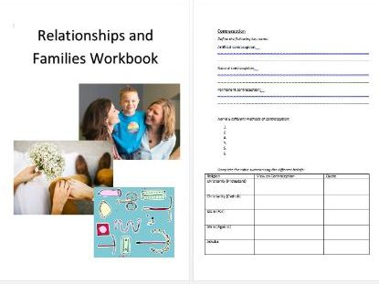 Relationships and Families Workbook (RE)