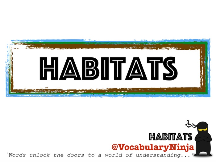 Habitats Topic Vocabulary Pack