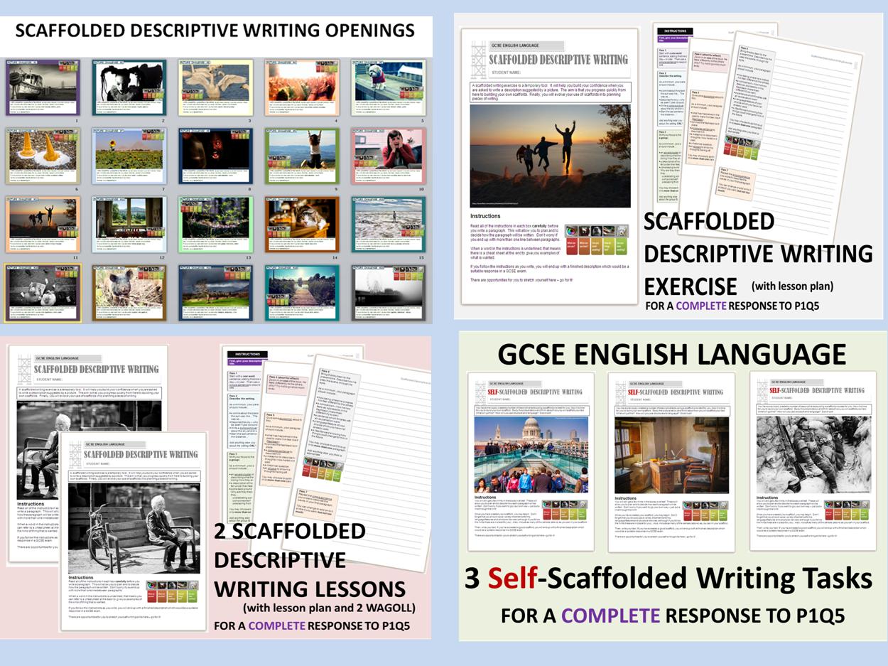 GCSE English Language - Scaffolded Descriptive Writing Bundle