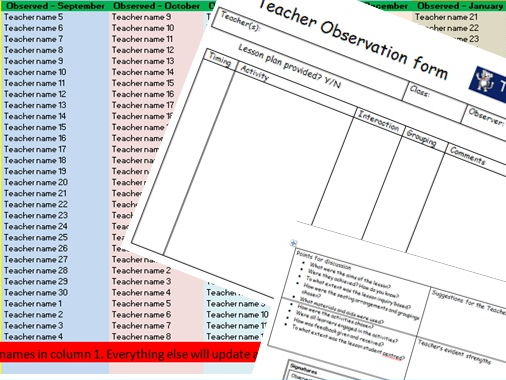 A ready-to-go peer observation programme for 50 teachers