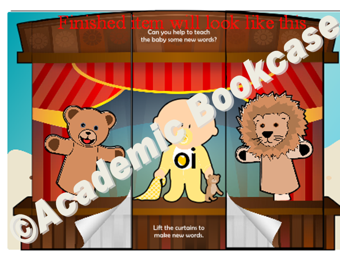 Puppet theatre word maker - Phase 3 'oi' words