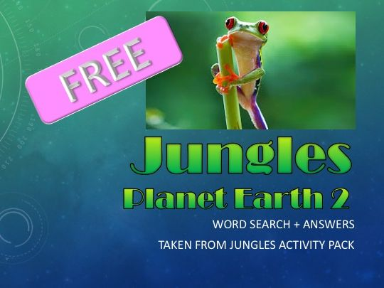 FREE - BBC Planet Earth 2 - Word Search