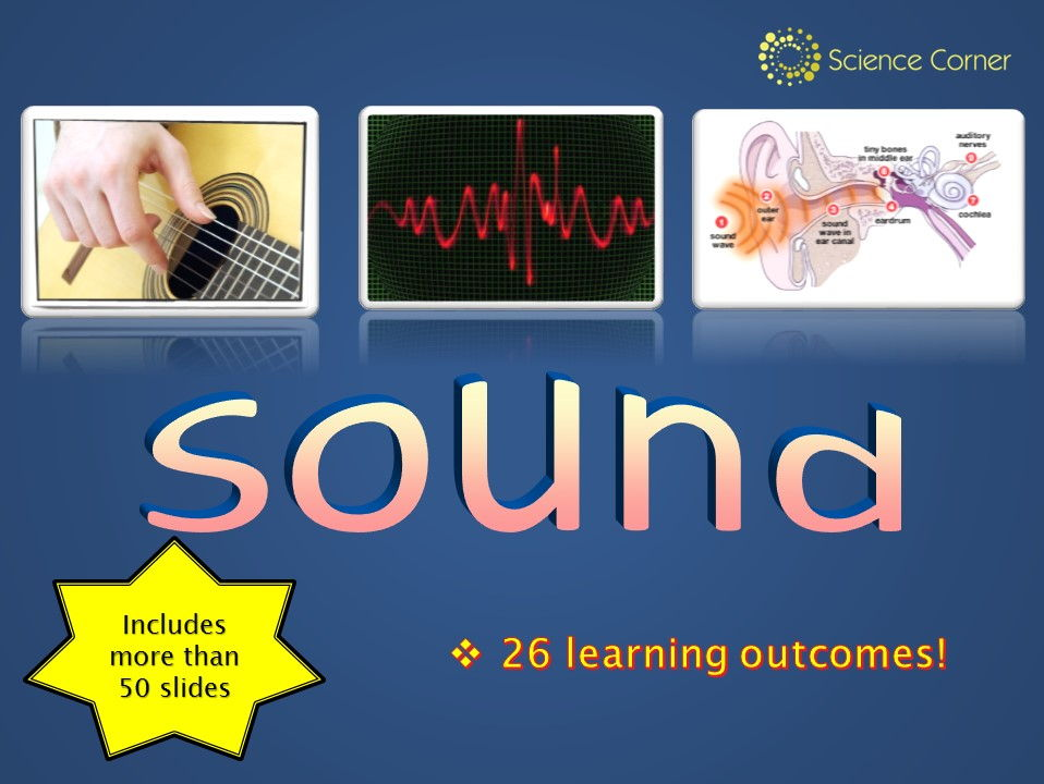 KS3 Physics:  SOUND and HEARING PowerPoint Only - waves, frequency, amplitude, ultrasound, the ear