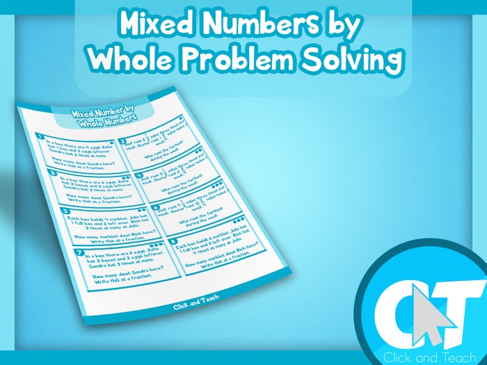 KS2 - Mixed Numbers by Whole Numbers Problem Solving