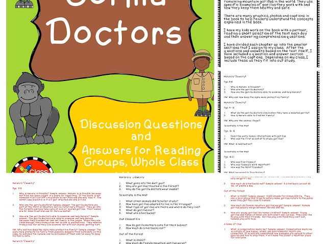 Gorilla Doctors Discussion Questions and Answers
