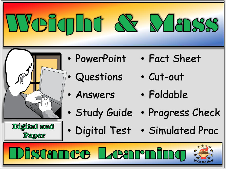 Forces - Weight and Mass Explained - Distance Learning and Homeschool for KS3