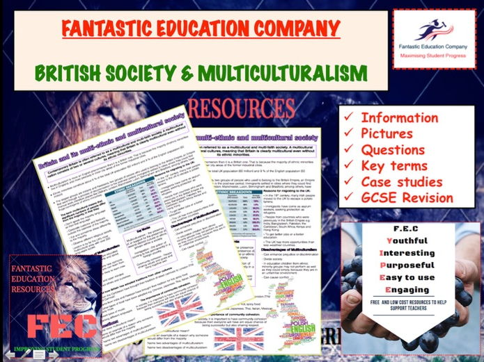 British society and multiculturalism Teaching Handout Revision Map